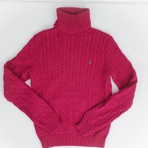 Ralph Lauren Sport Pink Cable Knit Sweater large